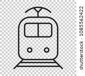train transportation icon.... | Shutterstock .eps vector #1085562422