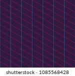 isometric grid. vector seamless ... | Shutterstock .eps vector #1085568428