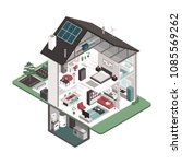 contemporary energy efficient... | Shutterstock .eps vector #1085569262