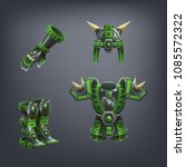set of fantasy armor for game.... | Shutterstock .eps vector #1085572322