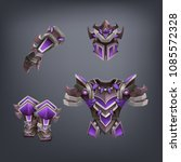 set of fantasy armor for game.... | Shutterstock .eps vector #1085572328
