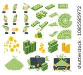 set a various kind of money.... | Shutterstock .eps vector #1085585972
