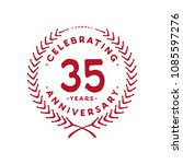 35 years design template. 35th... | Shutterstock .eps vector #1085597276