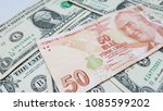 Turkish Lira Euro Dollar - stock photo