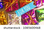 christmas party celebration... | Shutterstock . vector #1085600468