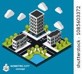isometric cityscape icon. 3d... | Shutterstock .eps vector #1085603372
