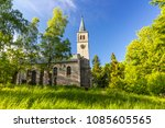 beautiful old church in the... | Shutterstock . vector #1085605565