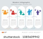 infographics design vector with ... | Shutterstock .eps vector #1085609942