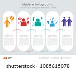 infographics design vector with ... | Shutterstock .eps vector #1085615078