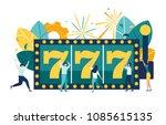 vector illustration  a slot... | Shutterstock .eps vector #1085615135