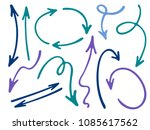 hand drawn diagram arrow icons... | Shutterstock .eps vector #1085617562