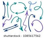 hand drawn diagram arrow icons... | Shutterstock .eps vector #1085617562
