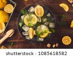 preparing of lemonade.... | Shutterstock . vector #1085618582
