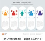 infographics design vector with ... | Shutterstock .eps vector #1085622446