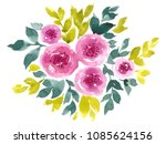 watercolor composition with... | Shutterstock . vector #1085624156