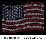boat steering wheel pictograms... | Shutterstock .eps vector #1085624342