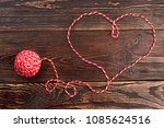 shape of heart from woolen... | Shutterstock . vector #1085624516