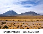 licancabur is a volcano located ... | Shutterstock . vector #1085629205