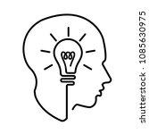 head creating a new idea ... | Shutterstock .eps vector #1085630975