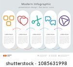 infographics design vector with ... | Shutterstock .eps vector #1085631998