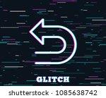 glitch effect. undo arrow line...   Shutterstock .eps vector #1085638742