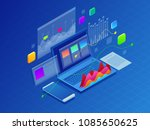 concept business strategy.... | Shutterstock .eps vector #1085650625