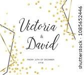 wedding gold dot 5   Shutterstock .eps vector #1085652446