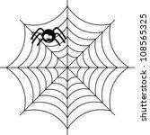 cute spider over white... | Shutterstock .eps vector #108565325