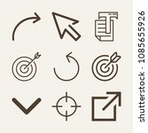 set of 9 arrow outline icons...   Shutterstock .eps vector #1085655926