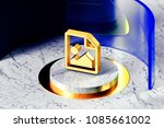 golden file image symbol on the ...
