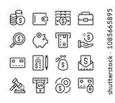 money line icons set. modern... | Shutterstock .eps vector #1085665895