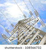 power transmission line. high... | Shutterstock . vector #108566732