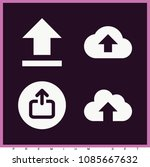 set of 4 upload filled icons... | Shutterstock .eps vector #1085667632