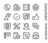 customer support line icons set.... | Shutterstock .eps vector #1085670455