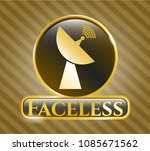 gold badge or emblem with... | Shutterstock .eps vector #1085671562