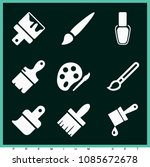 set of 9 painting filled icons... | Shutterstock .eps vector #1085672678