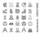 set of 25 user outline icons... | Shutterstock .eps vector #1085672882