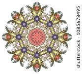 mandala flower decoration  hand ...   Shutterstock .eps vector #1085678495