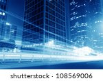 moving car with blur light... | Shutterstock . vector #108569006