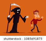 death character chasing running ... | Shutterstock .eps vector #1085691875