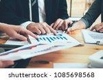 asian business adviser meeting... | Shutterstock . vector #1085698568