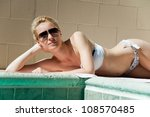 beautiful young woman near the... | Shutterstock . vector #108570485