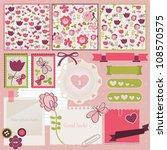 scrapbook elements. vector... | Shutterstock .eps vector #108570575