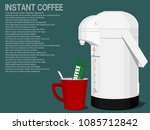 set of instant coffee on blue... | Shutterstock .eps vector #1085712842