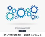 connected cogwheels concept.... | Shutterstock .eps vector #1085724176