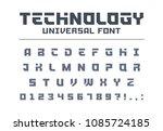 technology universal font type. ... | Shutterstock .eps vector #1085724185