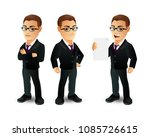 set of strong man characters | Shutterstock .eps vector #1085726615