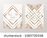 marble wedding invitation cards ... | Shutterstock .eps vector #1085730338