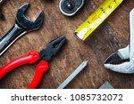 set of construction tools on...   Shutterstock . vector #1085732072