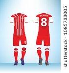 soccer jersey or football t... | Shutterstock .eps vector #1085733005